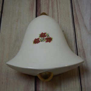 Porcelain Poinsettia Bell Shaped Trinket Box